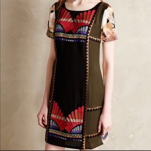 Anthropologie Ranna Gill embroidered dress